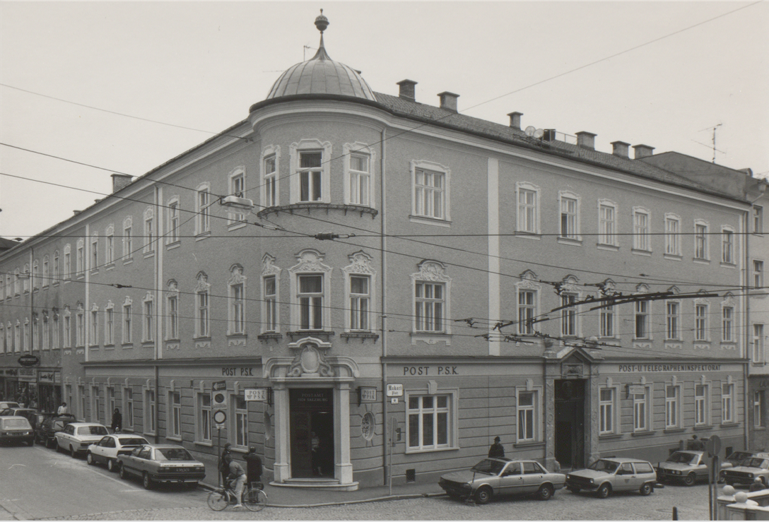 Markartplatz, last residence of Dr. Eduard Portheim (Photo from 1980ties)<br>Souce: Salzburg city archive
