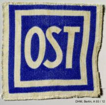 Identification patch for »Eastern Workers«<br>Photo: Salzburg City Archives