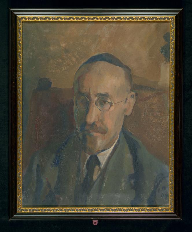 Portrait Rabbi David Samuel Margules by Gabriele Margules<br>Source: Leo Baeck Institute, The Edythe Griffinger Art Catalog