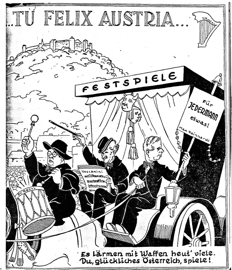 This cartoon text is a play on a famous phrase about why Austria is fortunate & means: