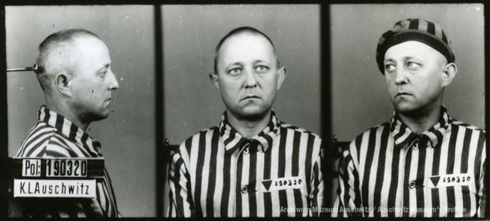 Ranzenberger, Hubert (prisoner number: 190320)<br>Source: Archive of the Auschwitz-Birkenau State Museum