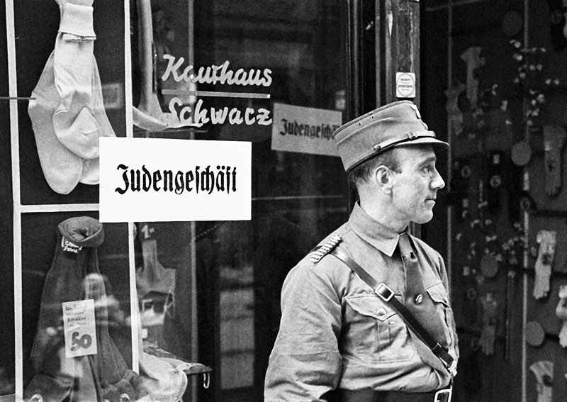 1938: Boycott of Jewish Stores<br>Photo: Salzburg City archive, Fotoarchiv Franz Krieger