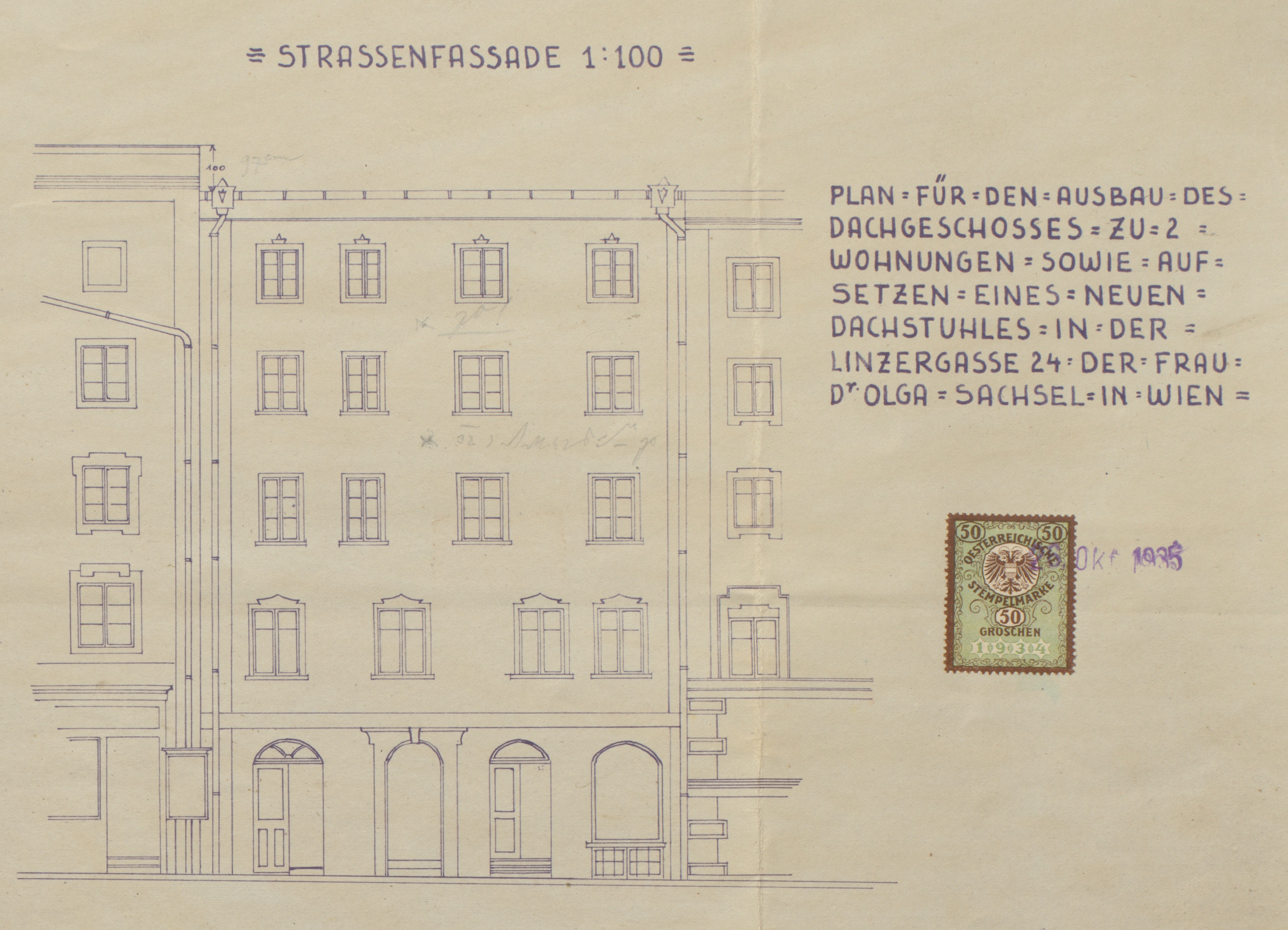 Front of Linzer Gasse 24<br>